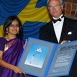 Sunita Narain while receiving Stockholm Water Prize (2005)