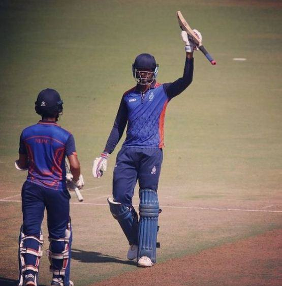 Venkatesh Iyer during the List-A match against Punjab in Vijay Hazare Trophy