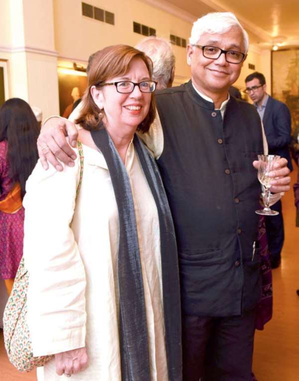 Amitav Ghosh with his wife
