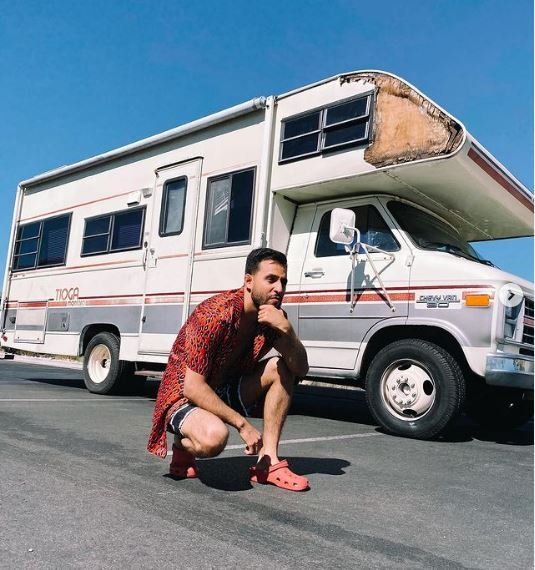 Anwar Jibawi with his RV