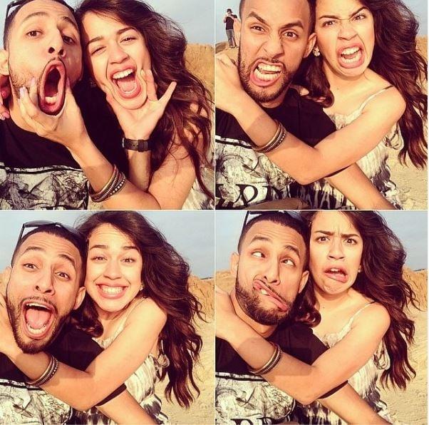 Anwar Jibawi with his girlfriend