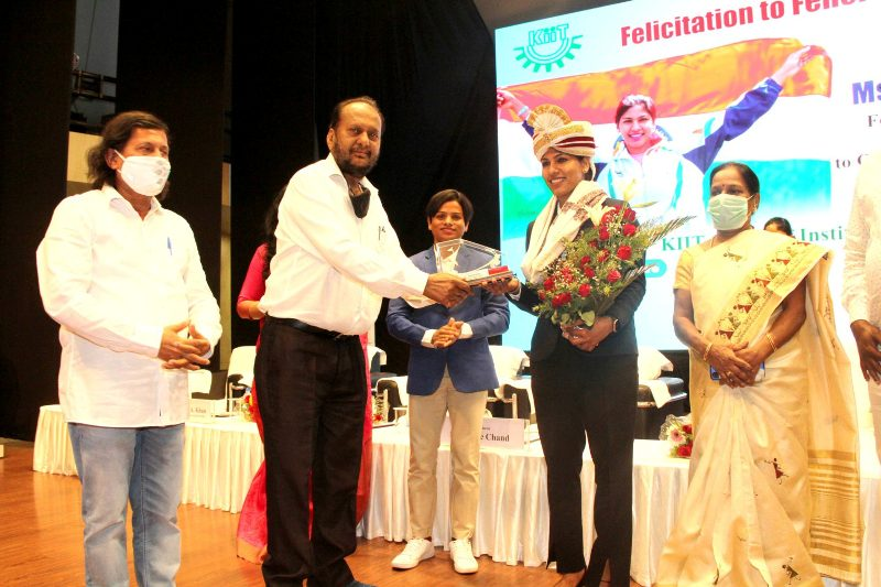 Bhavani Devi was honoured by KIIT for her selection in Tokyo Olympics