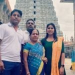 Bhavani Devi with her brothers and mother