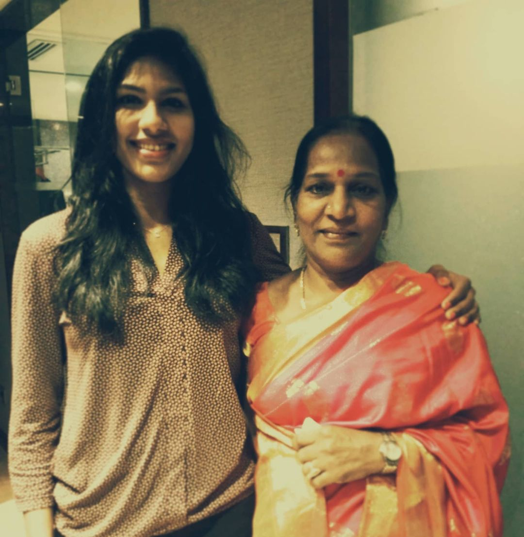 Bhavani Devi with her mother