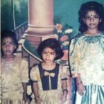 A chilhood photo of Bhavani Devi with her two sisters