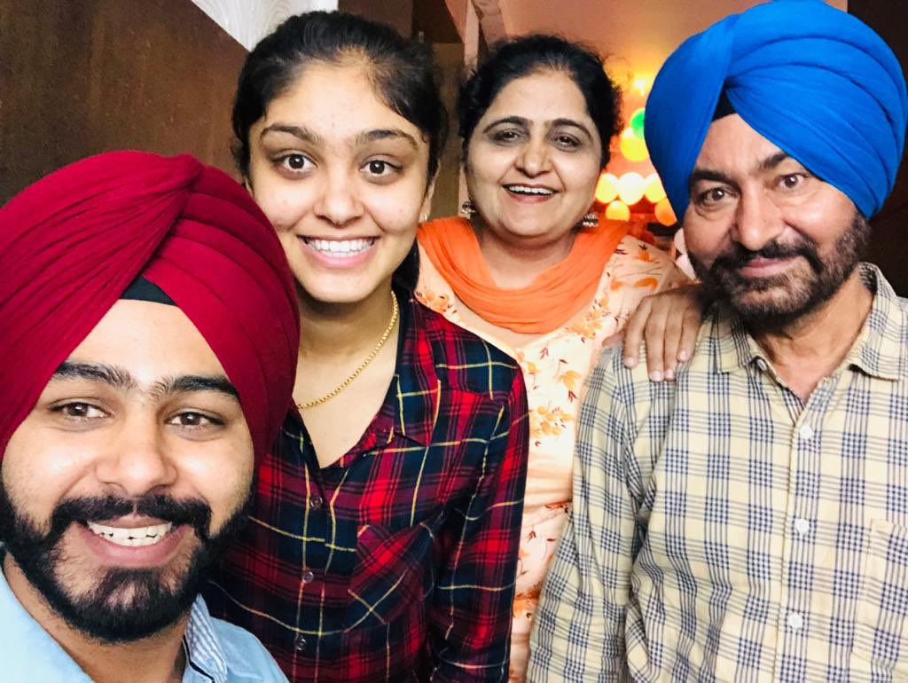 Harleen Deol with her family