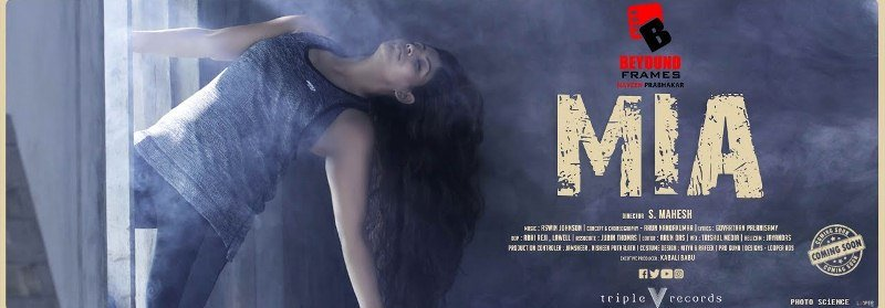 Ineya on the poster of the music video Mia