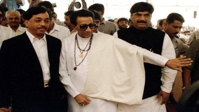 Narayan Rane with Bal Thackeray