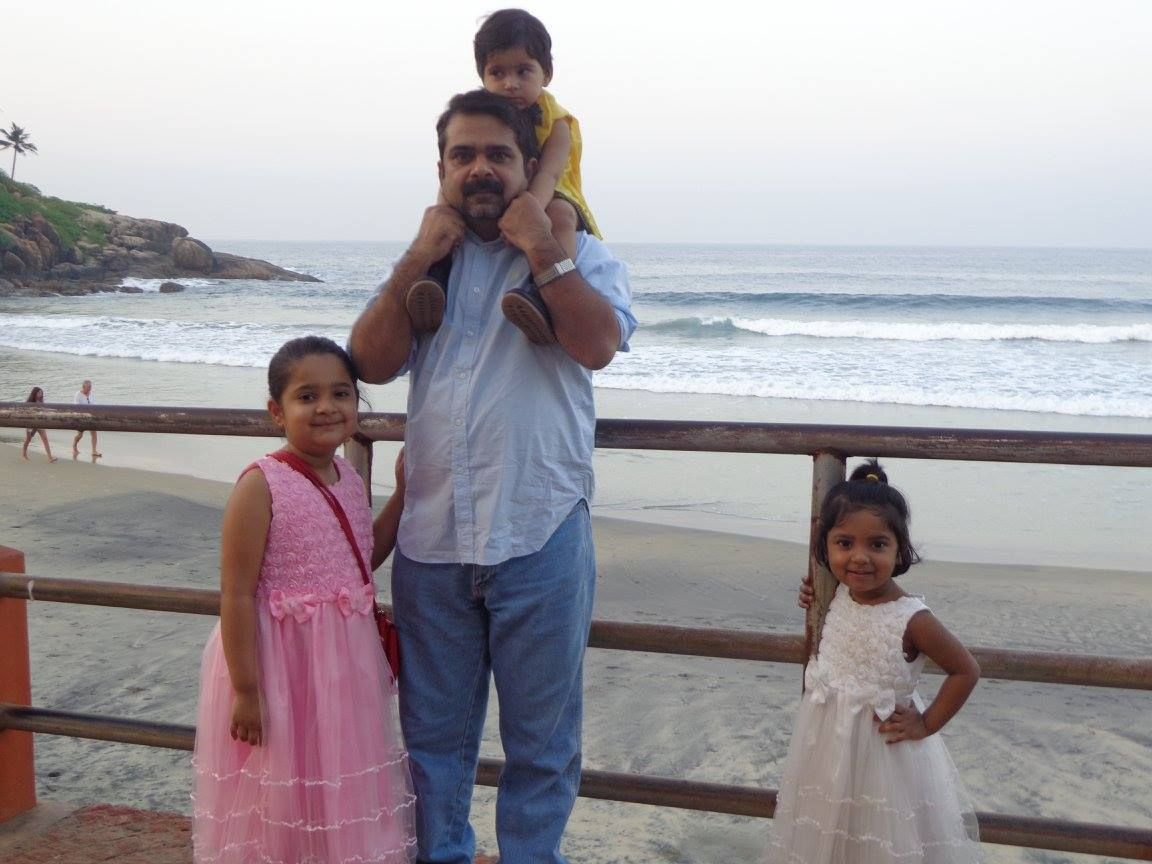 Ojha Sir with his daughters