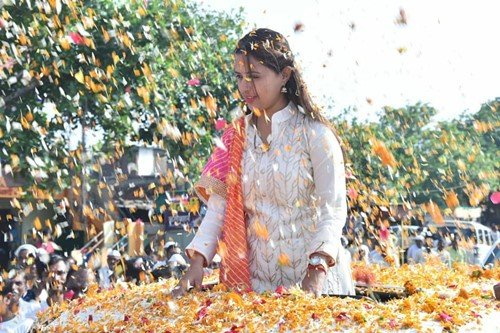 Pritam Munde during an election rally
