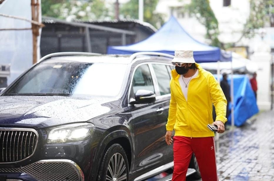 Ranveer Singh with his Mercedes Maybach GLS 600
