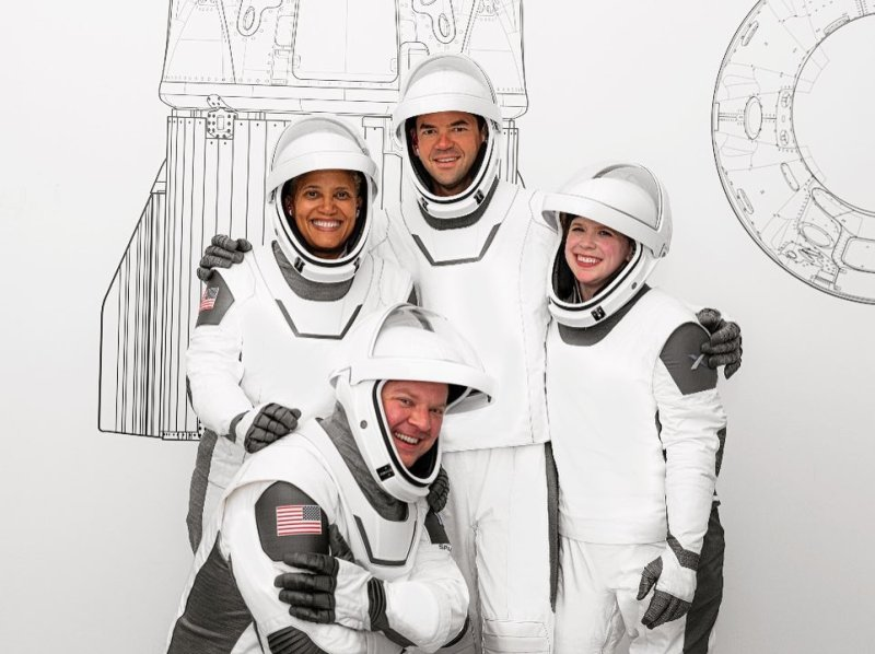 The four crew members of Inspiration4