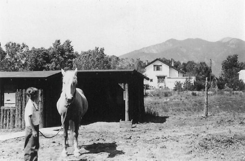 Wally Funk as a child in Taos, New Mexico