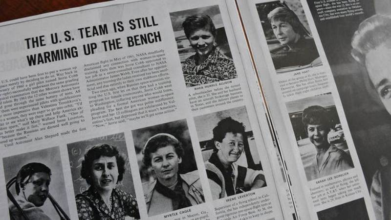 Wally Funk featured in the June 28, 1963, Life Magazine story on Mercury 13 women