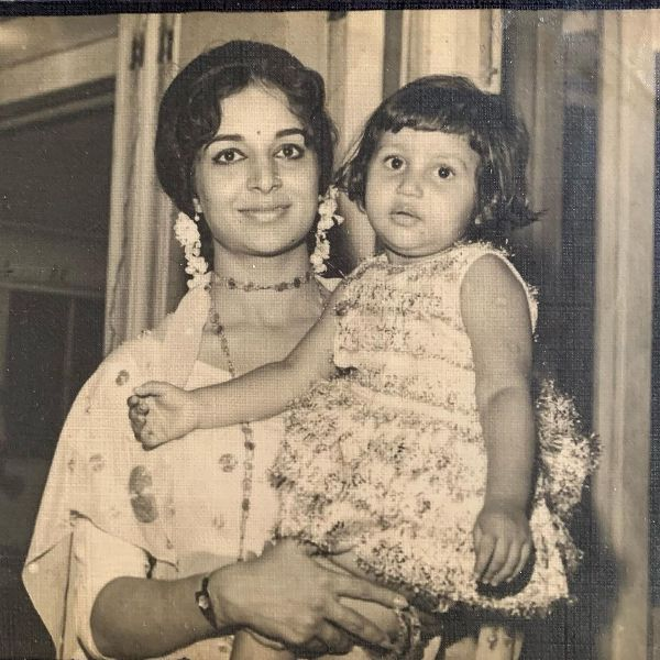 A childhood picture of Sunita Gowariker with her mother