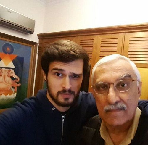 Ajit Sodhi with his father