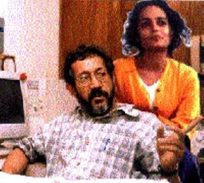 Arundhati Roy with her ex-husband Pradip Krishen