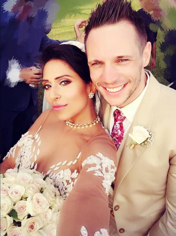 Candice Pinto with her husband Drew Neal