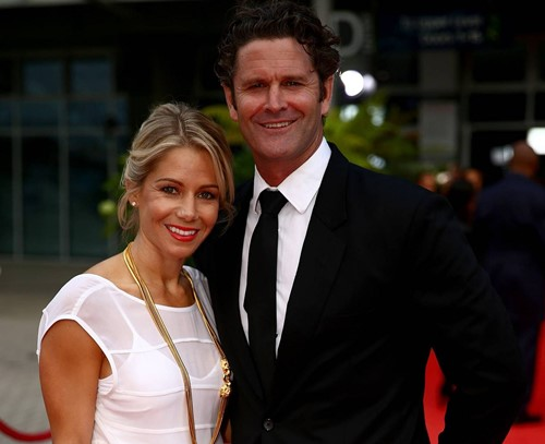 Chris Cairns and his wife, Melanie Cairns
