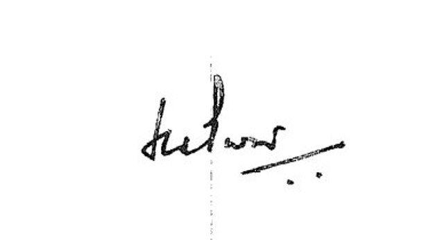 Hardeep Singh Puri's signature