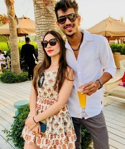 Heli Daruwala with her brother