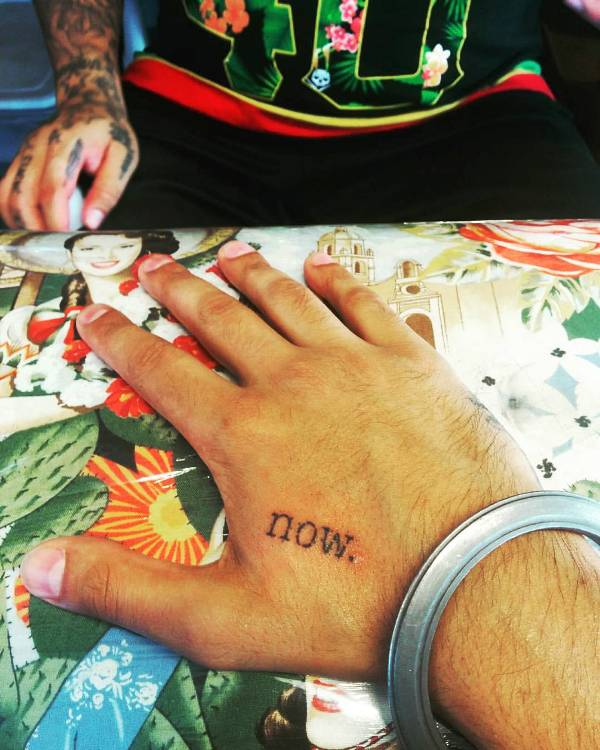 Humble the Poet's 'Now' tattoo