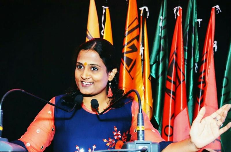 Kriti Bharti while speaking on women's equality day in June 2021
