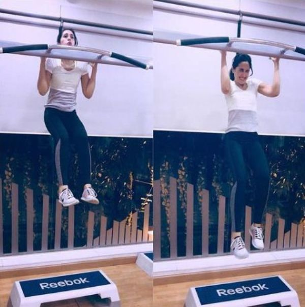 Mira Sethi working out in her guy