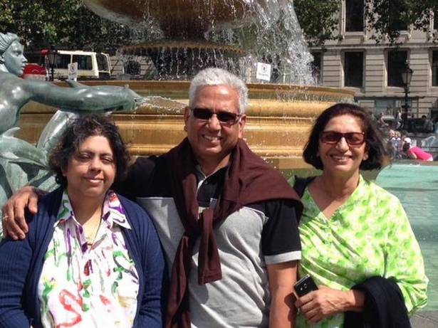 Mohinder Amarnath with his family