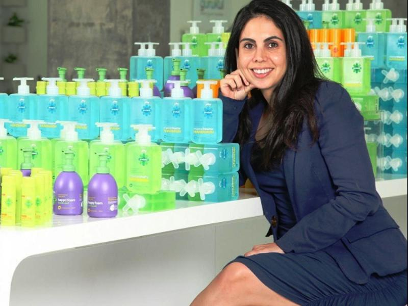 Nisa Godrej with her newly launched products of the GCPL