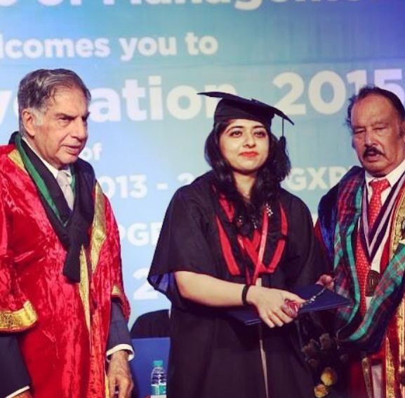 Ridhima Arora during her convocation