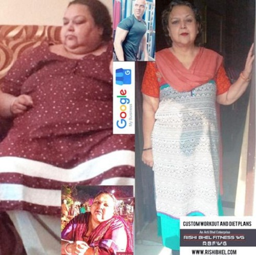 Rohit Bhel's mother's weight loss journey