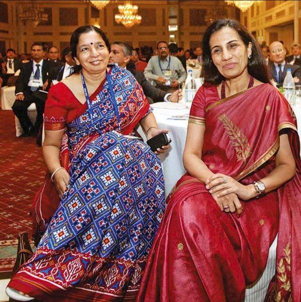 Shikha Sharma with Chanda Kochhar