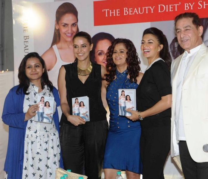 Shonali Sabherwal with her Bollywood clients on launch of her debut book
