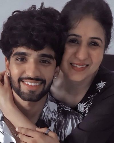 Zeeshan Khan and his mother