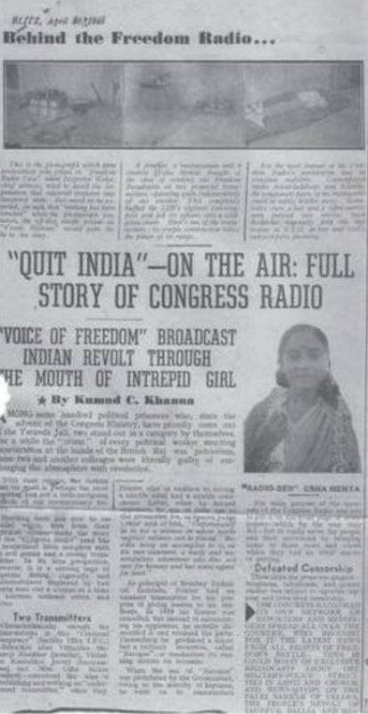 A story in 'Blitz' on 20 April 1946 about the secret radio station