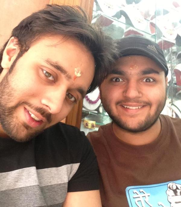 Jagnoor Aneja with his brother