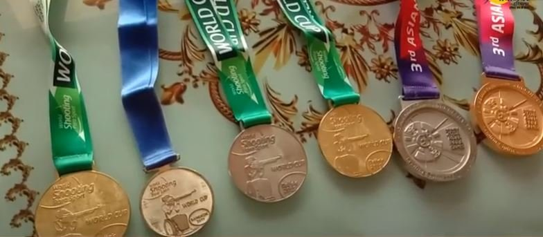 Manish Narwal's medals