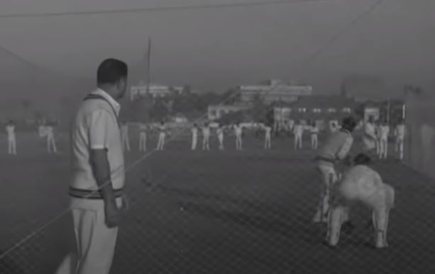 Mankad post-retirement as a coach training youngsters during a net session