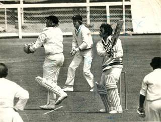 Mohinder Amarnath playing a cut during the Christchurch Test in February, 1976
