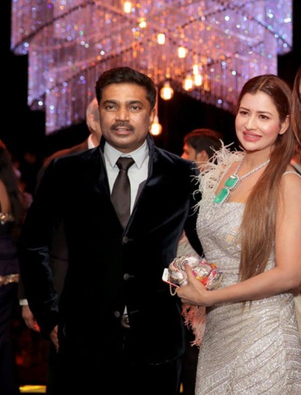 Sudha Reddy with her husband, P.V. Krishna Reddy