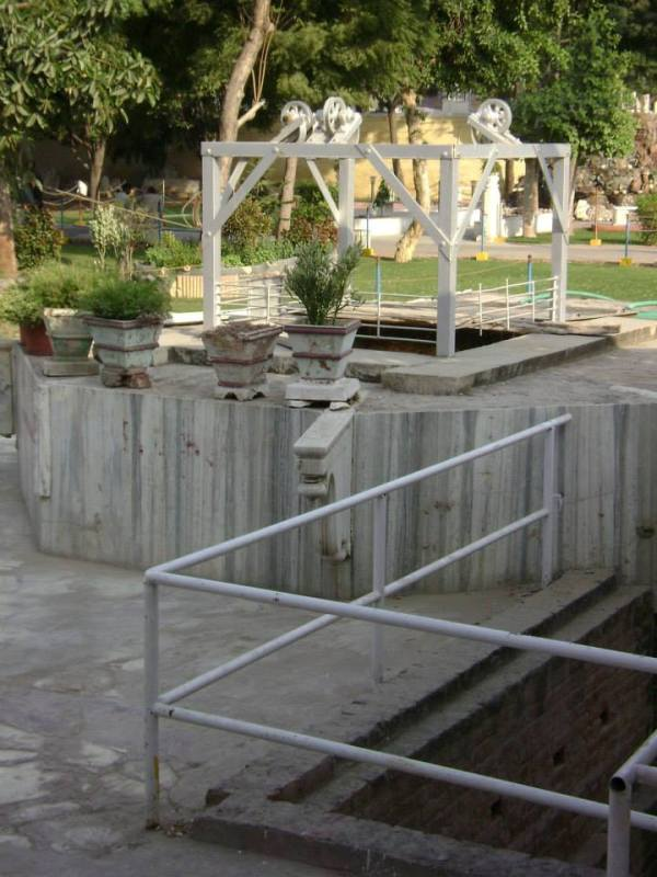 The new image of the mysterious well (renovated) at Soamiji's house