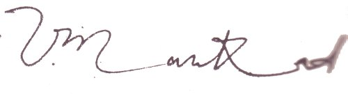 Vinoo Mankad's signature