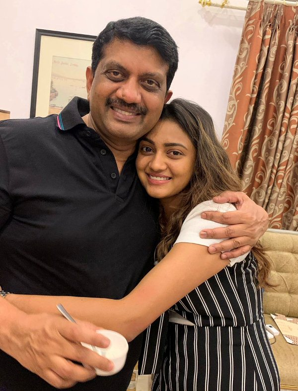 Shreya with her father