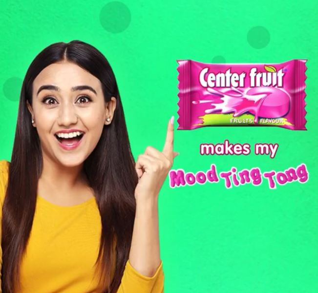 Swastima Khadka while promoting a commercial product on her social media account